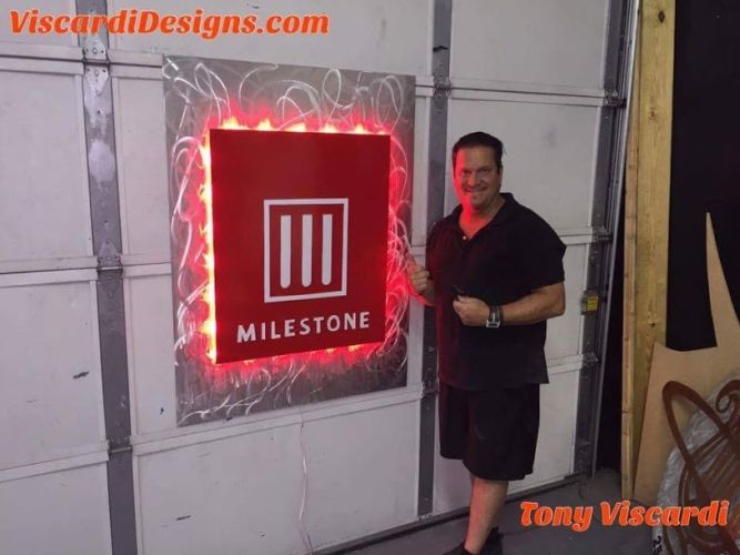 led lighted indoorsign with red led lighting
